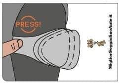 Cybex Juno M-Fix Pulsante protezioni laterali