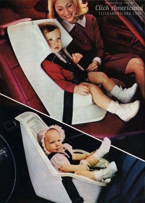 seggiolino auto vintage