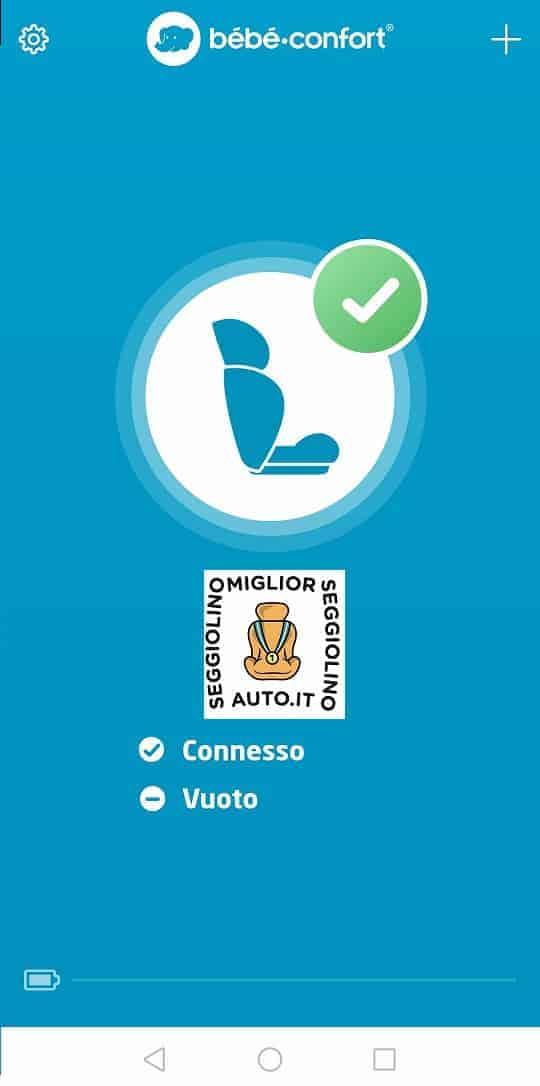 Bébé Confort e-Safety Funzionamento - Sedile vuoto