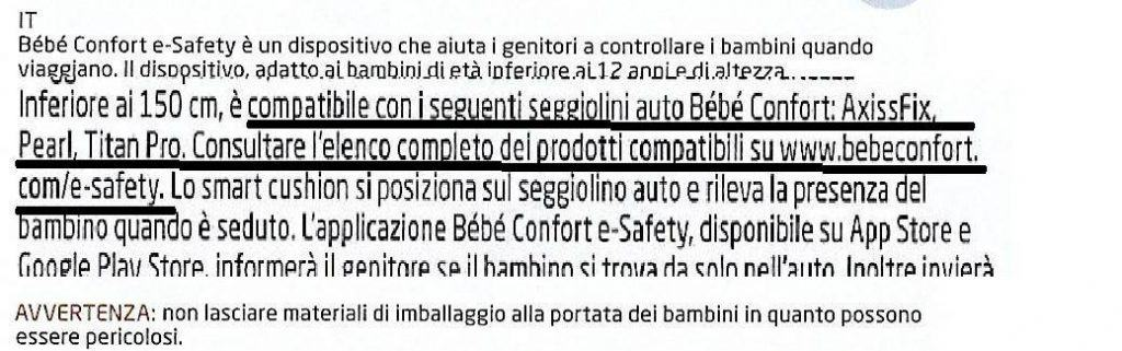 Bébé Confort e-Safety modelli compatibili