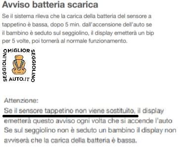 baby bell batterie sensore
