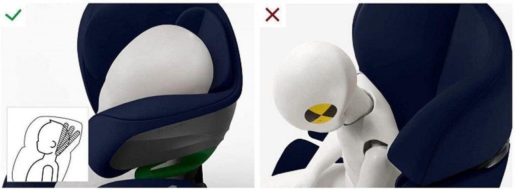 cybex pallas g i-Size poggia testa reclinabile